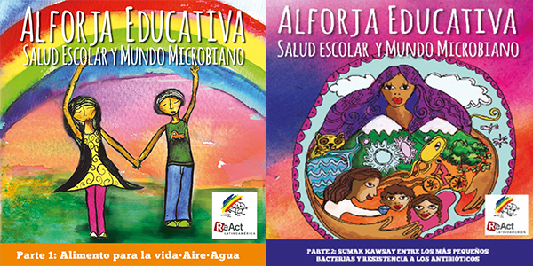 Two different colorful front images of Al Forja Educative