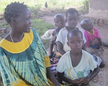 A mother with her children. Children are becoming ever more vulnerable as bacteria become resistant to drugs.