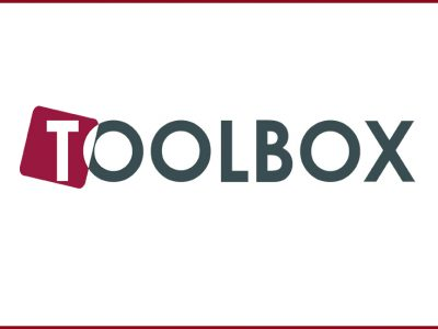 Logotype for The ReAct Toolbox, word ToolBox.