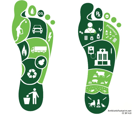 Carbon and antibiotic footprint concepts